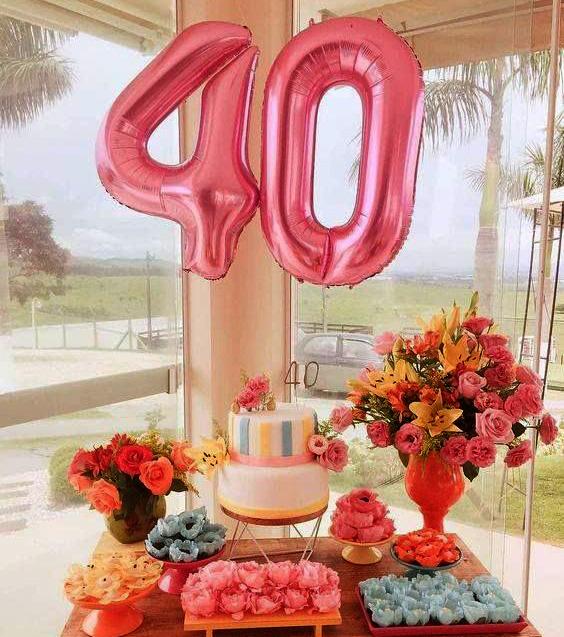 arreglo para fiesta 40 años