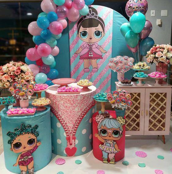 mesa de dulces lol surprise dolls