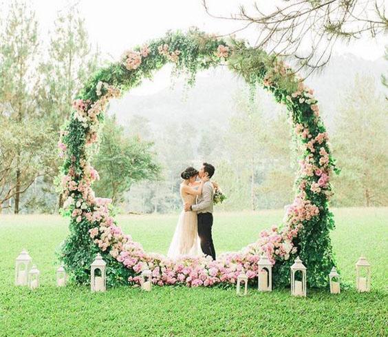 ideas para decoracion arco de flores
