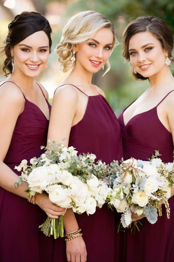 boda en color vino