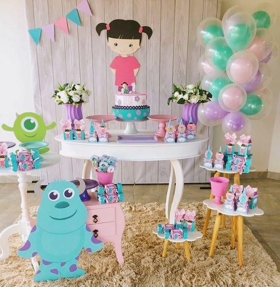 pastel para cumpleaños de monsters inc de niña