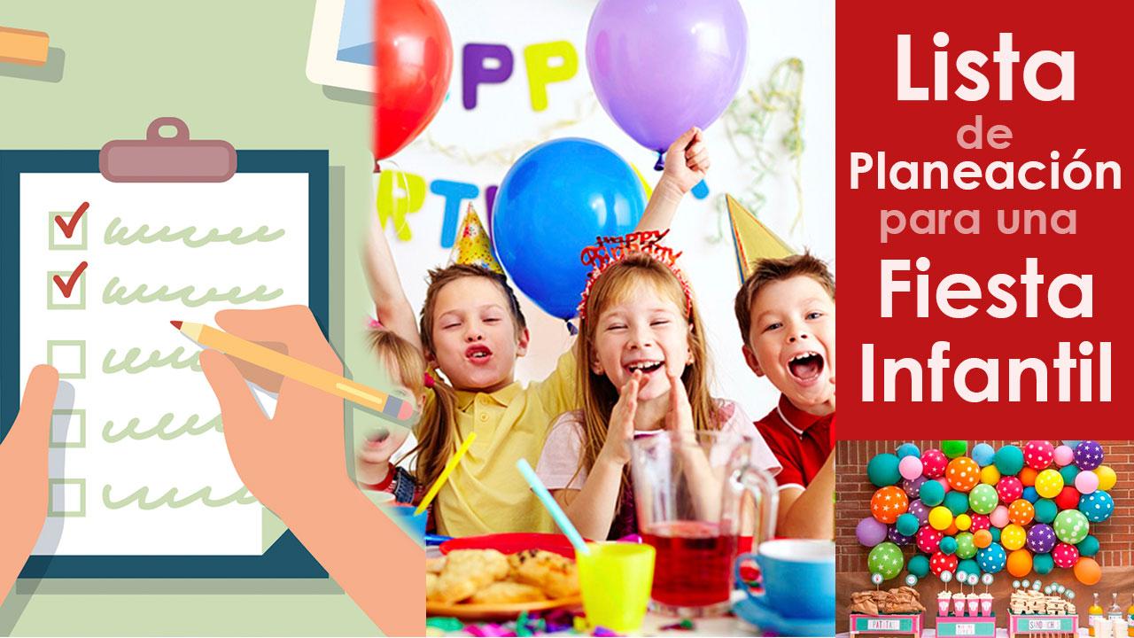 Lista de Planeación para una Fiesta Infantil