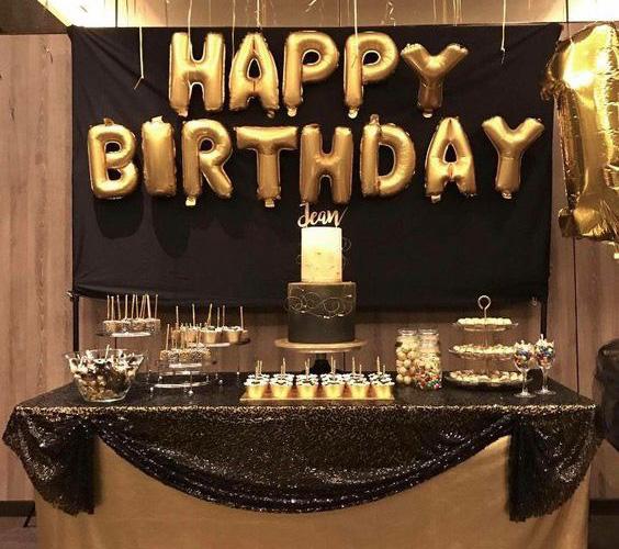 fiesta de cumpleaños dorada