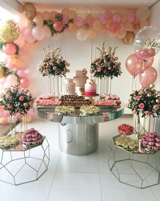 ideas de mesas de dulces para quince años