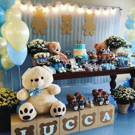 decoracion osos para baby shower