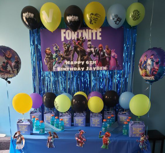 Decoración De Fiesta Fortnite Decoracion Para Fiestas
