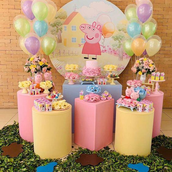 decoracion cumpleaños peppa pig