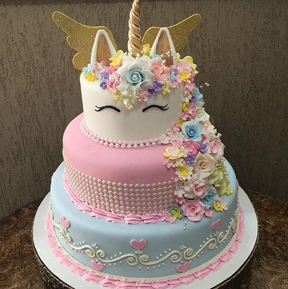 pasteles para fiesta unicornio