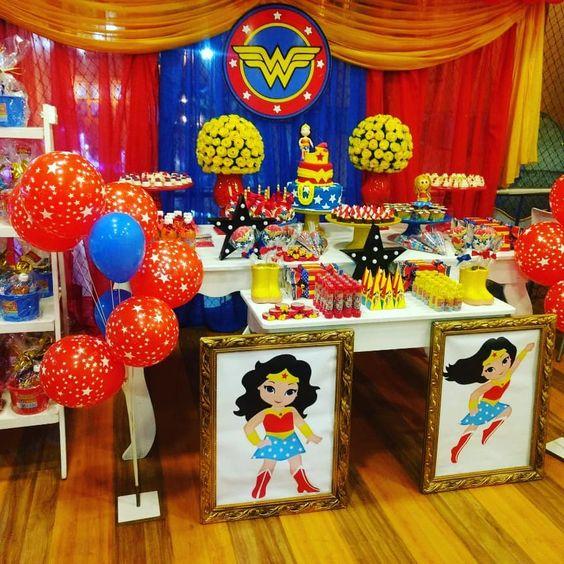 decoracion fiesta mujer maravilla
