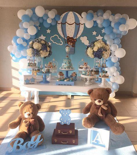 arreglo de oso para baby shower