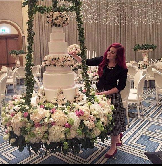 torta colgante para boda