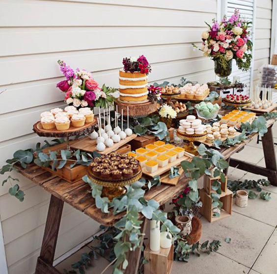 ideas mesa de dulces para boda