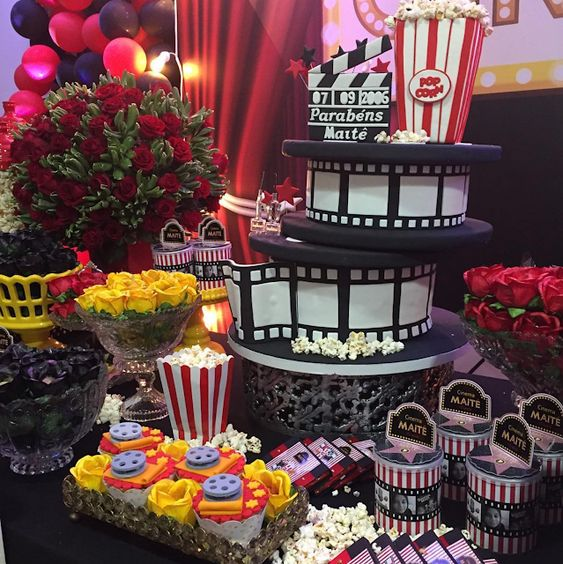 pastel de fiesta hollywood