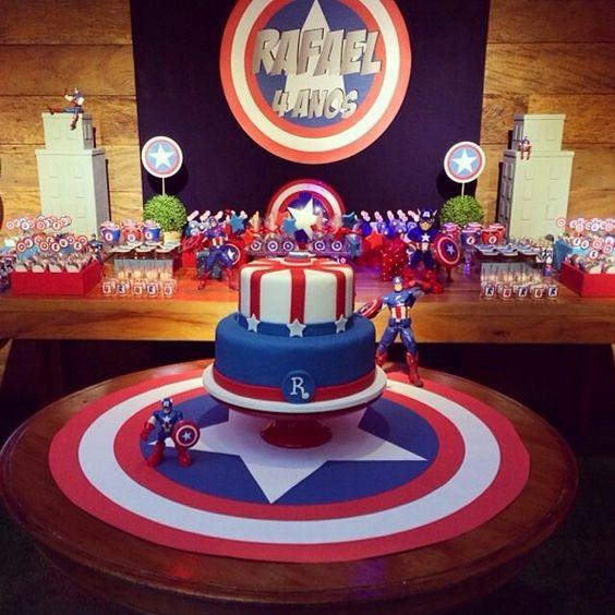 cumpleaños niño capitan america