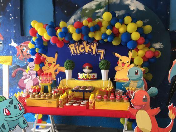 cumpleaños tematico pokemon