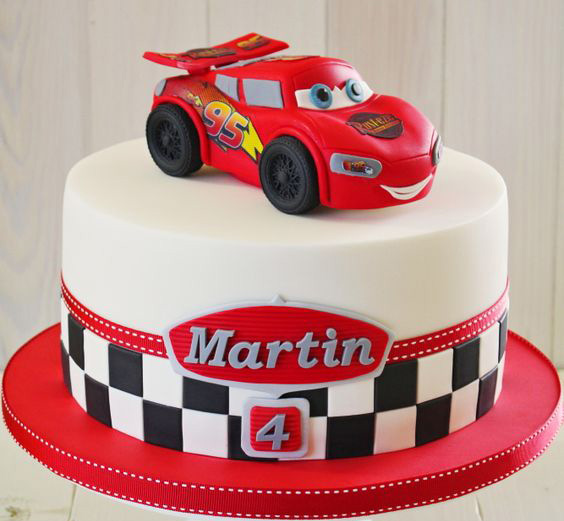 torta para fiesta de cars