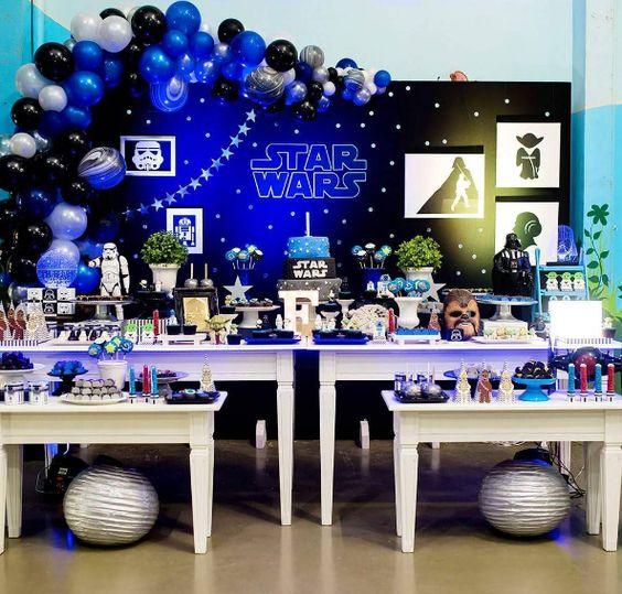 mesa de dulces star wars