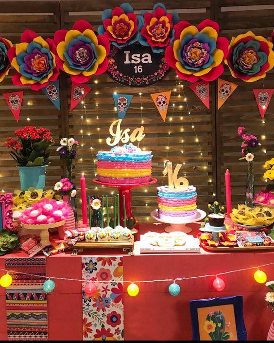 fiesta de cumpleaños estilo mexicana