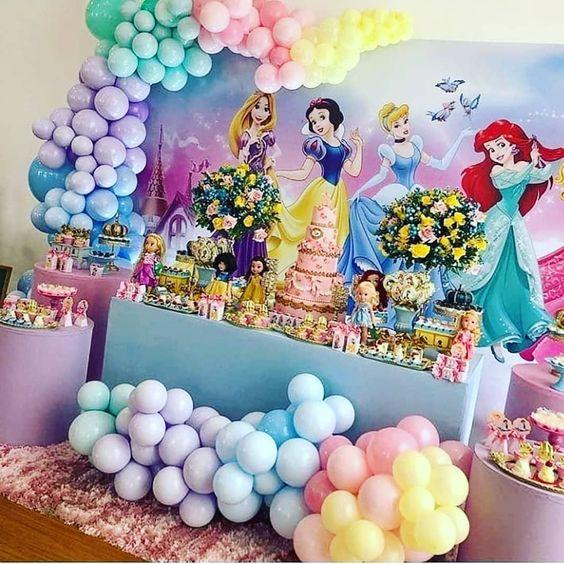 decoracion cumpleaños de princesas
