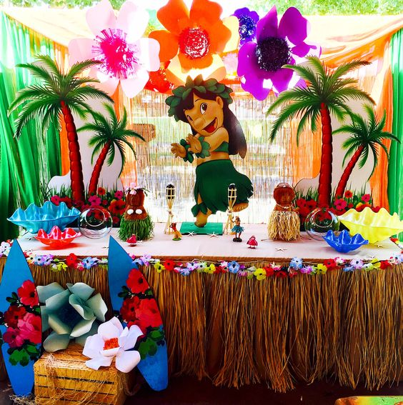 decoracion fiesta lilo y sticho