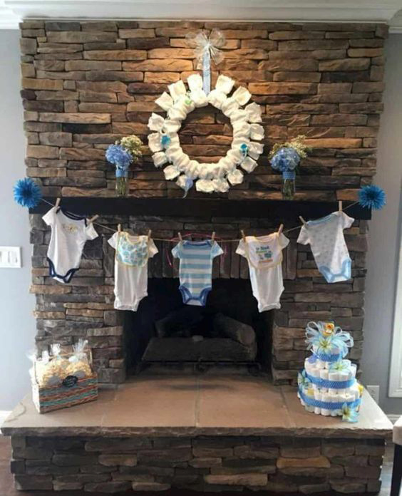 adorno para baby shower en casa
