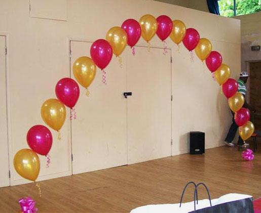 arco de globos de helio para fiestas