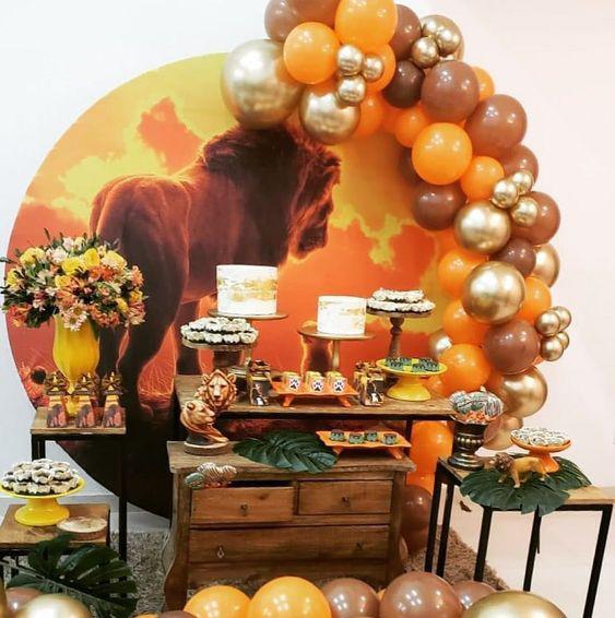mesa de dulces del rey leon