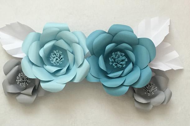 Como hacer una Flor Grande de papel decoracion para fiestas