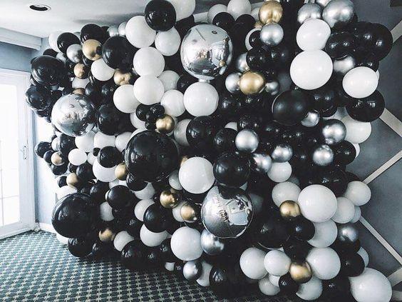 arreglo para pared de globos