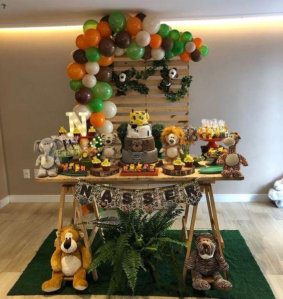 cumpleaños infantil de la jungla