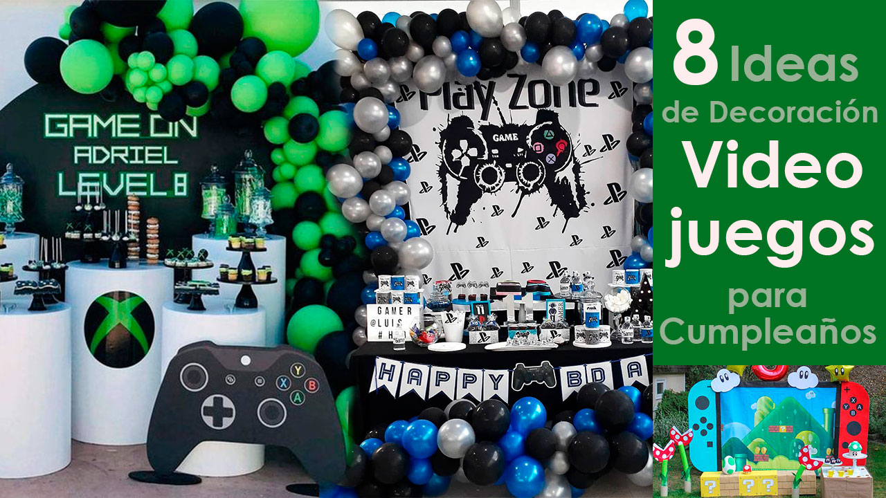 8 Ideas de Decoración de Videojuegos para Cumpleaños