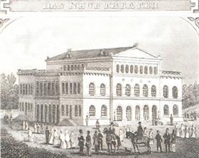 Landestheater Coburg - Historische Zeichnung