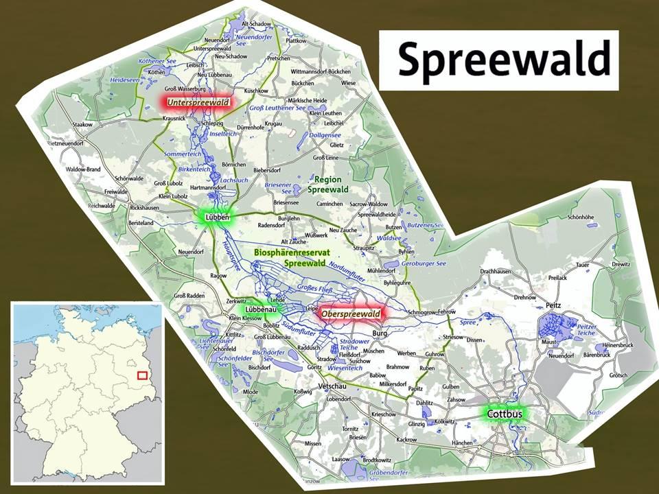 Spreewaldkarte