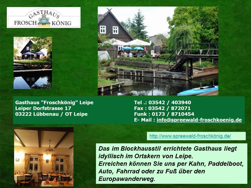 Restaurant Froschkönig in Leipe