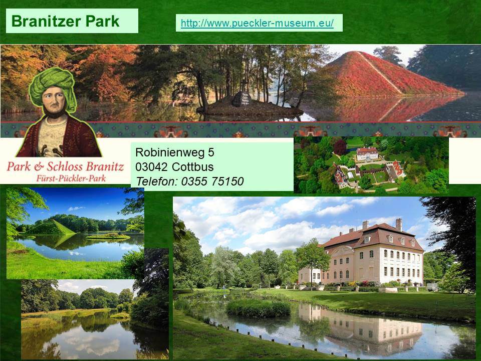 Der Branitzer Park mit Schloß Branitz