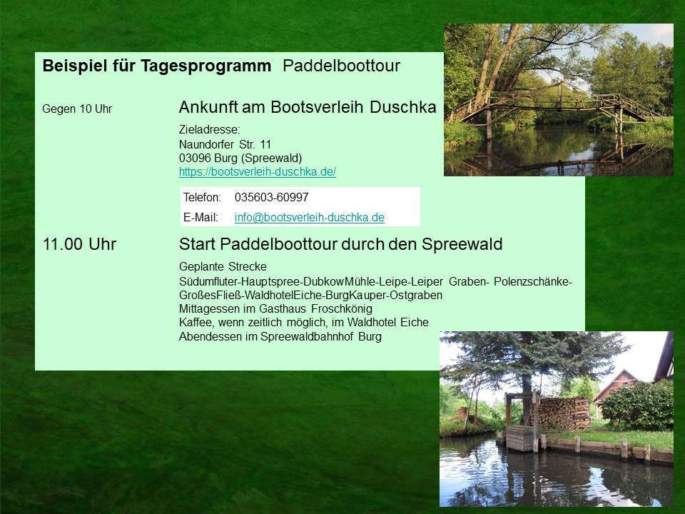 Ein Tag im Spreewald