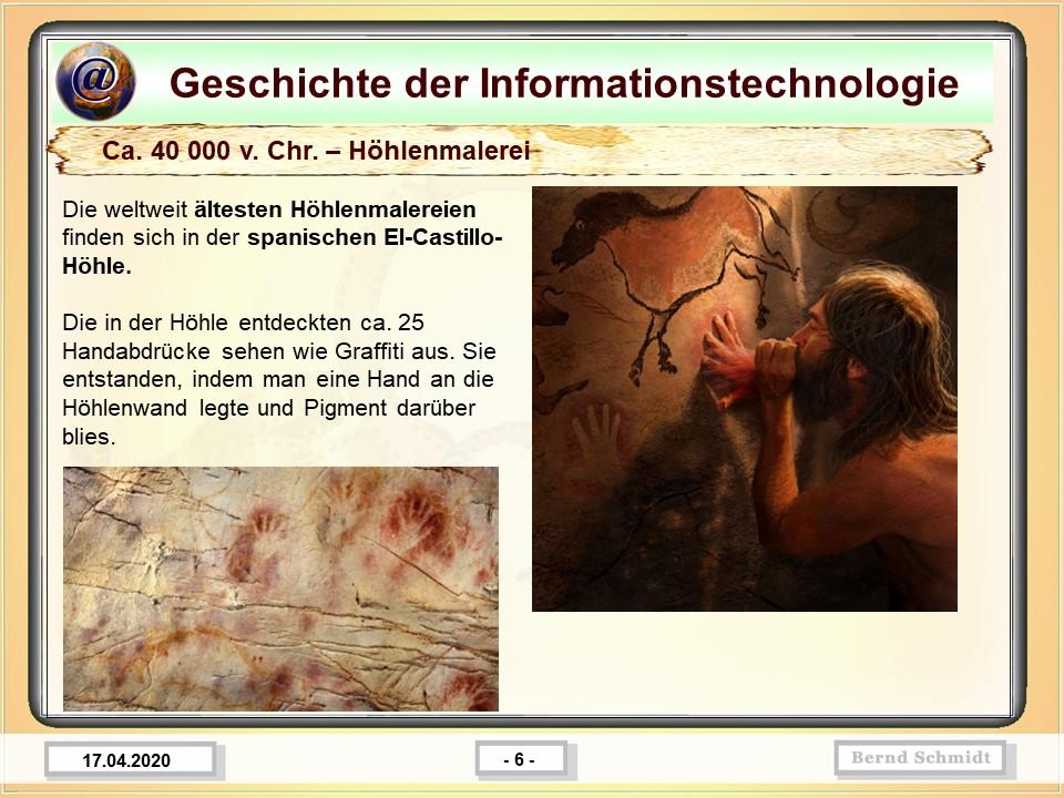 Ca. 40 000 v. Chr. – Höhlenmalerei