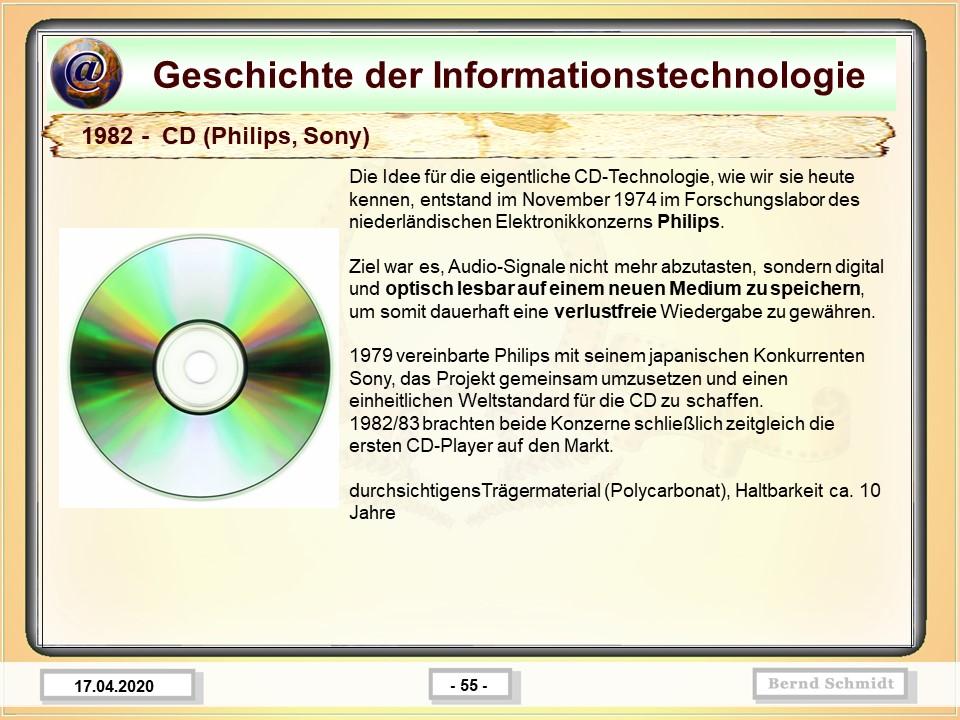 1982 -  CD (Philips, Sony)