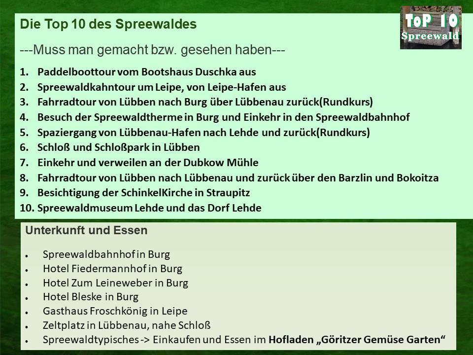Top Ten Spreewald
