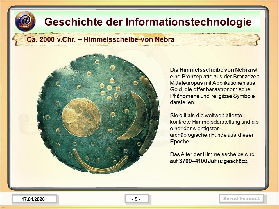 Ca. 2000 v.Chr. – Himmelsscheibe von Nebra