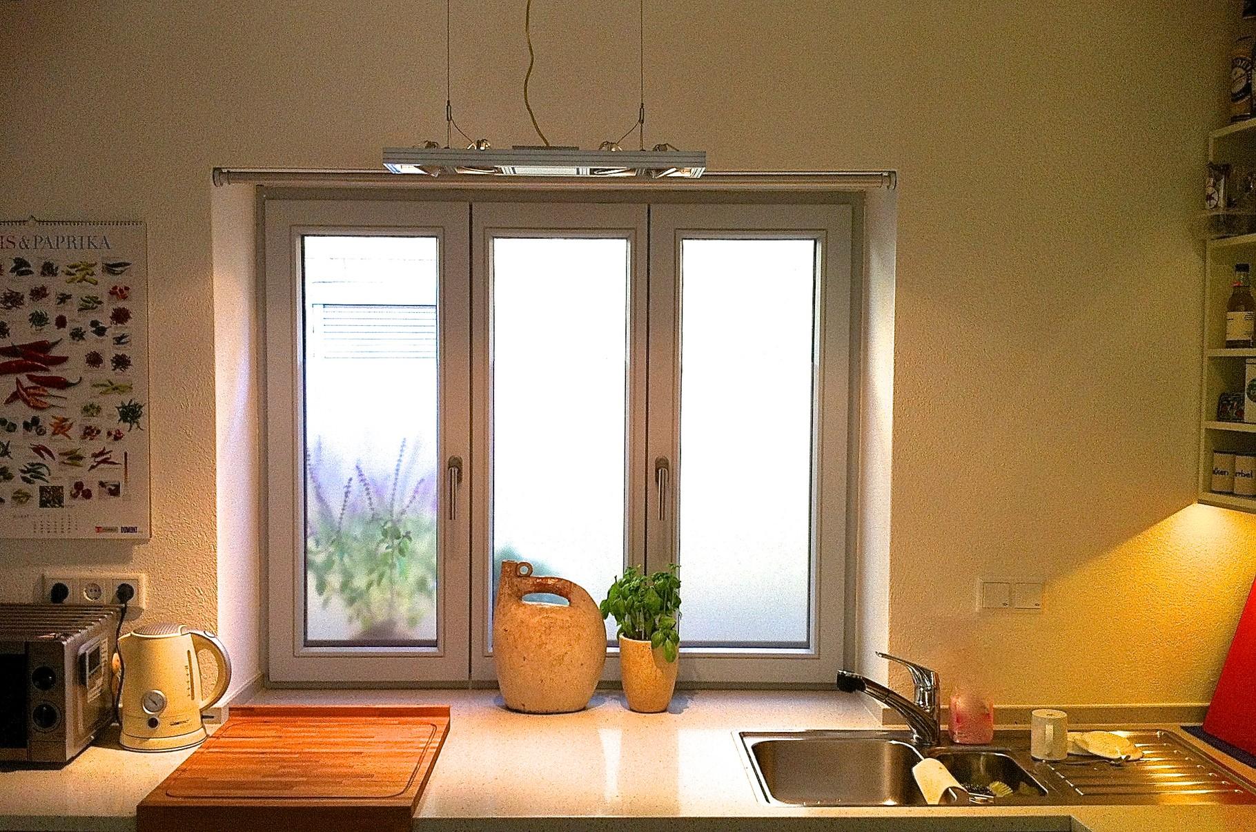 Privathaus Zubereiten mit gutem Licht