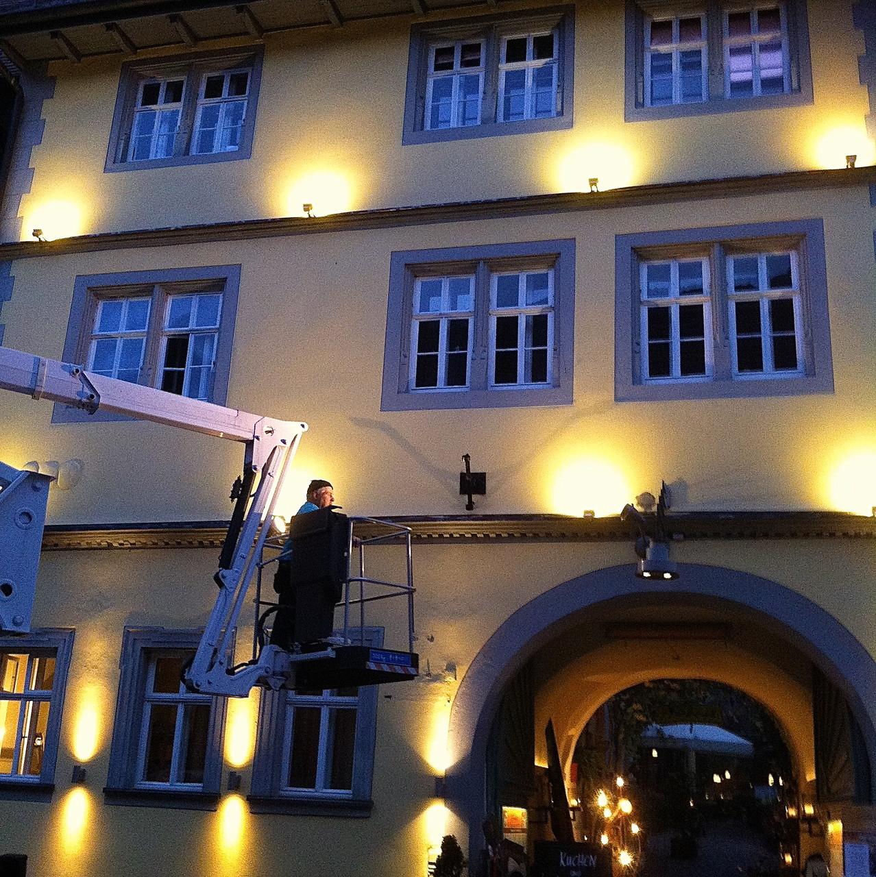 Lichtgestaltung Fassade Hinterhöfle Volkach