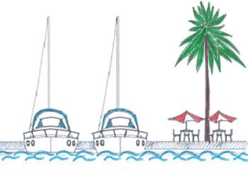 in barca senza zanzare