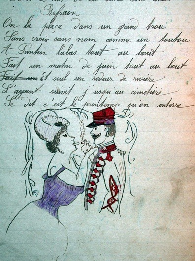 Cahier, vers 1900