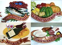 シーフード/ワイン/野菜/肉 立体サイン
