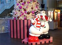 スノーマン/ウーマン クリスマス用フィギュア
