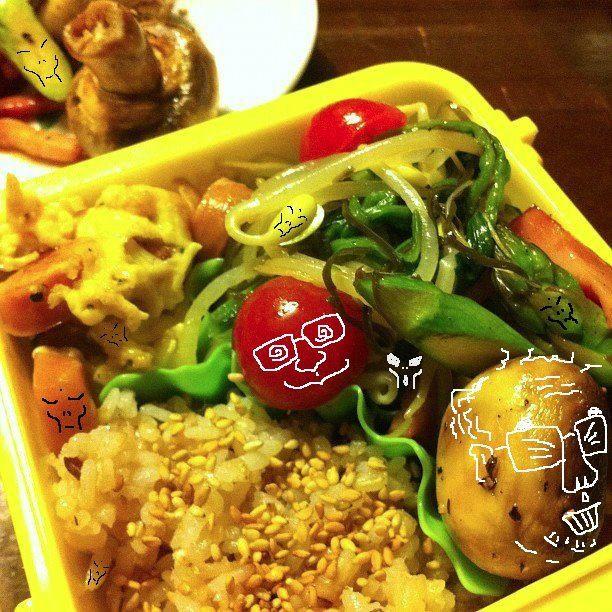 おはおは~! 『美奈子さんのお弁当で遊ぼう!』 だぉ~。今日もレギュラー陣は、おげんこのようで なによりでつね。w 【制作日/2012年1月26日】