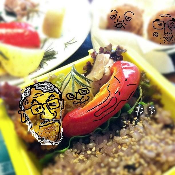 【美奈子さんのお弁当で遊んでみよう!】 なんだか微妙なあたさんでつね。 【制作日/2011年10月22日】