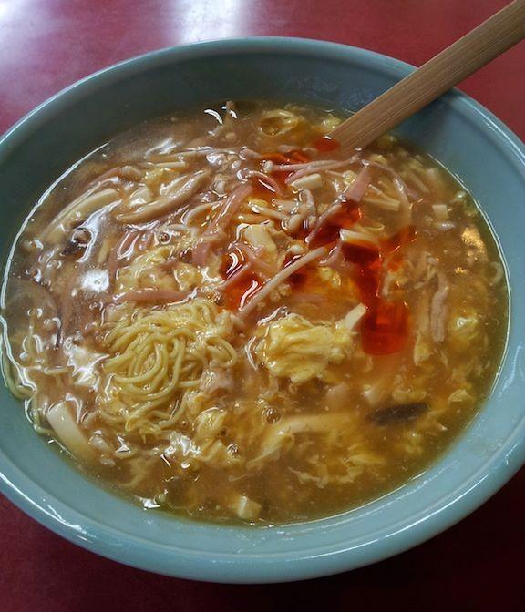 山水樓の酸辣湯麺。酸っぱいよぉ~、辛いよぉ~! 【2012年10月31日】