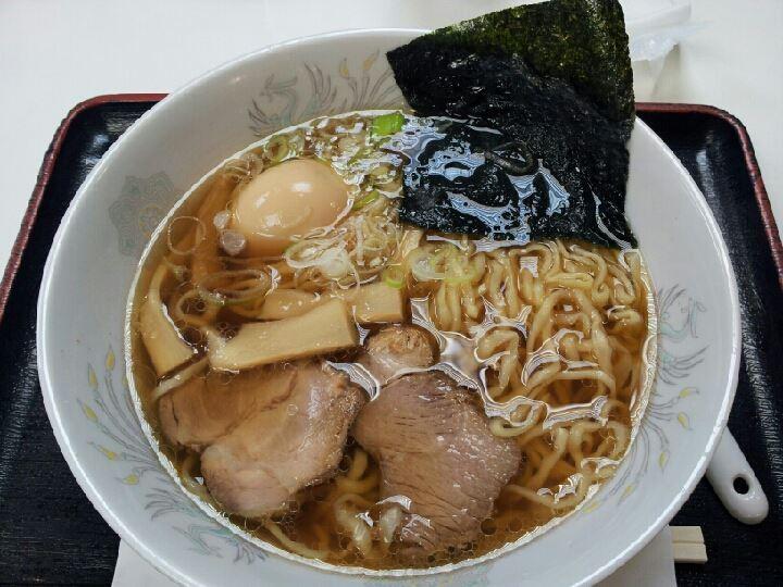 東北道渋滞ちうにつき、佐野藤岡SAでラーメン、佐野玉子ちゃん。麺に始まり麺で終わるツアー。 【2013年8月4日】